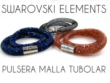 Tutorial Pulsera de Malla con Swarovski Elements - Doble vuelta