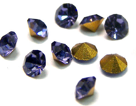10 x Chaton Preciosa® MAXIMA - PP16 - 2,40mm - Tanzanite