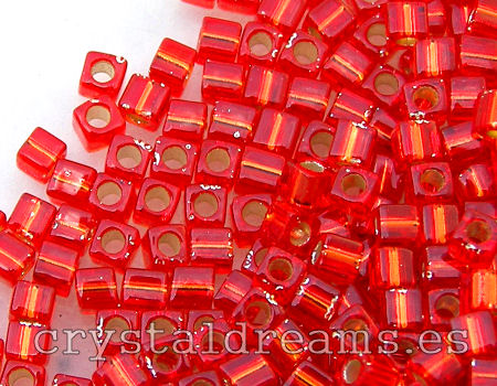 Cubos de Miyuki 1,8mm - Flame Red Silver Lined - 1 gr.