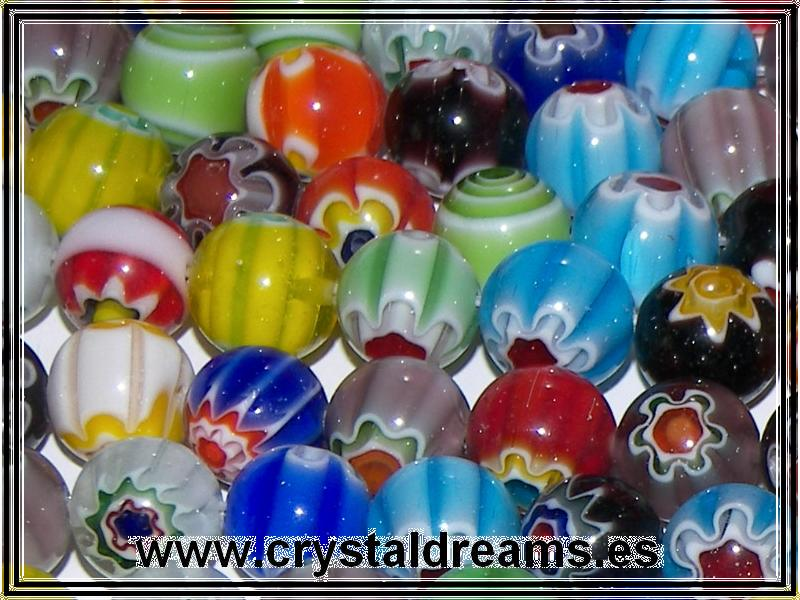 10 x Murano Bolas 10mm Mix