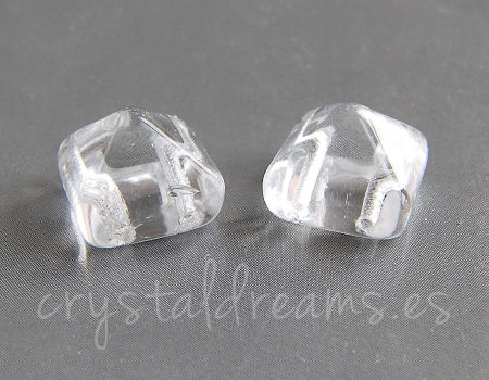 Beadstud Spike 11x11x8mm Agujero:1mm - Crystal