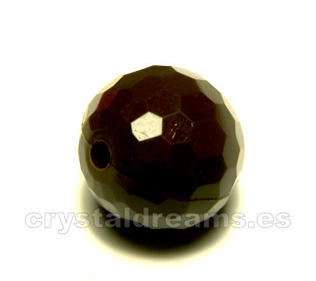 Cuentas Acrilicas mod.Faceted 14mm Agujero: 1,2mm - Brown