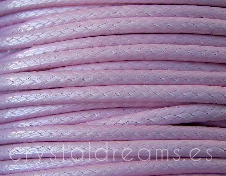 Hilo Algodon encerado 2.5mm x 1 metros Light Violet
