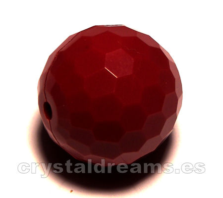 Cuentas Acrilicas mod.Faceted 20mm Agujero: 1,2mm - Dark Red