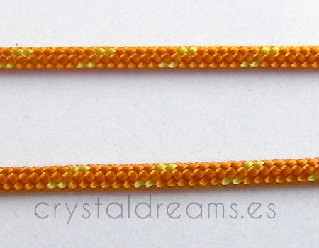 Cordon tejido de 2mm - Orange/Yellow - x 1mt