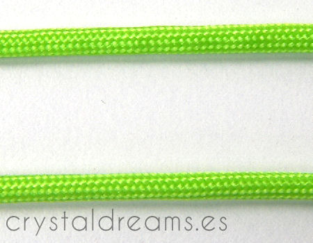 Cordon tejido de 3,5mm - Fluor Green - 1mt.