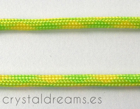 Cordon tejido de 3,5mm - Lime-Lemon - 1mt.