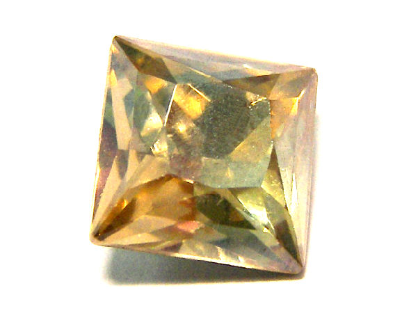 4447 Swarovski Elements 8mm - Square - Crystal Golden Shadow