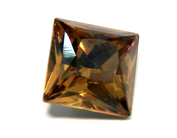 4447 Swarovski Elements 8mm - Square - Light Smoked Topaz