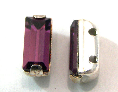 4501 Swarovski Elements® - 7x3mm - Engaste plateado Amethyst