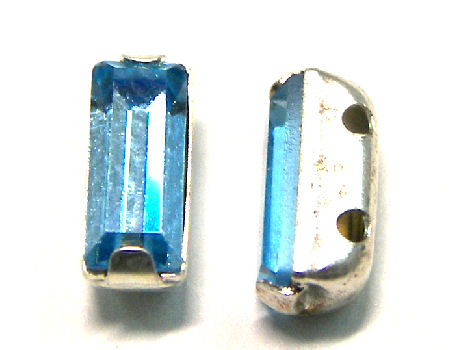4501 Swarovski Elements® - 7x3mm - Engaste plateado Aquamarin