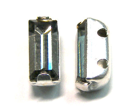 4501 Swarovski Elements® - 7x3mm - Engaste plateado Black Diamon