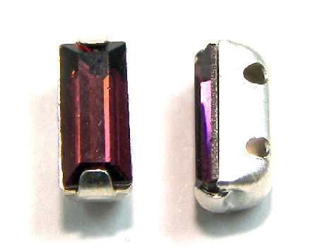 4501 Swarovski Elements® - 7x3mm - Engaste plateado - Burgundy