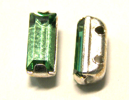 4501 Swarovski Elements® - 7x3mm Engaste plateado Erinite