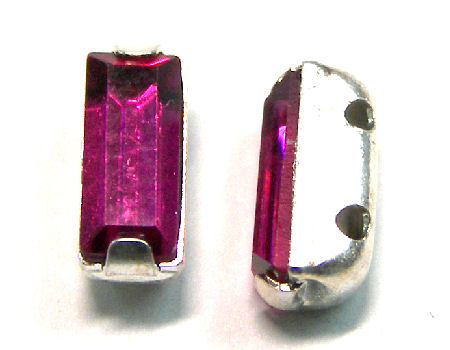 4501 Swarovski Elements® - 7x3mm - Engaste plateado Fuchsia