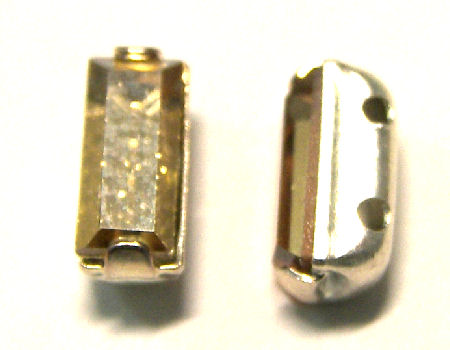 4501 Swarovski Elements® - 7x3mm Engaste plateado Golden Shadow