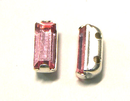 4501 Swarovski Elements® - 7x3mm - Engaste plateado Lt. Rose