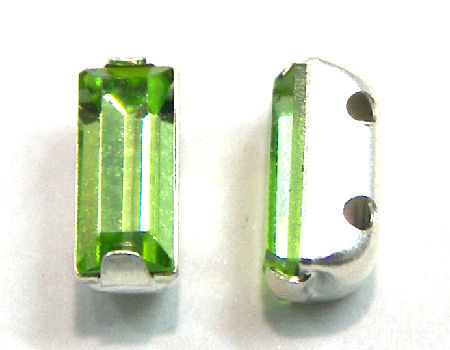 4501 Swarovski Elements® - 7x3mm - Engaste plateado - Peridot