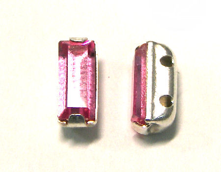 4501 Swarovski Elements® - 7x3mm Engaste plateado Rose
