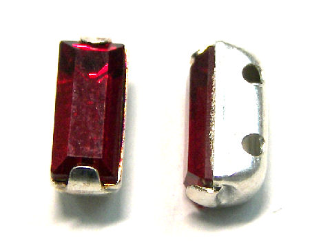 4501 Swarovski Elements® - 7x3mm - Engaste plateado Siam