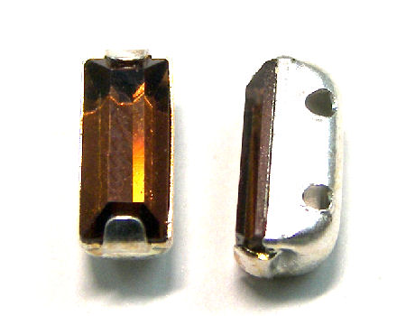 4501 Swarovski Elements® - 7x3mm - Engaste plateado Sm. Topaz