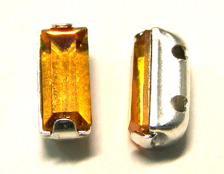 4501 Swarovski Elements® - 7x3mm Engaste plateado Topaz