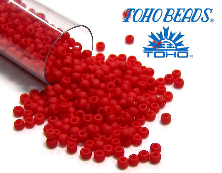 11/0 Toho - rocalla - Opaque Frosted Cherry - 5gr. col.45AF