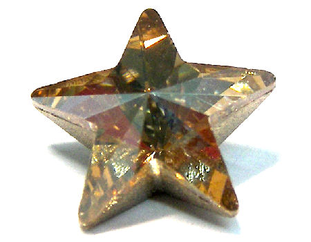 4745 Swarovski Elements Star - 10mm - Crystal Golden Shadow