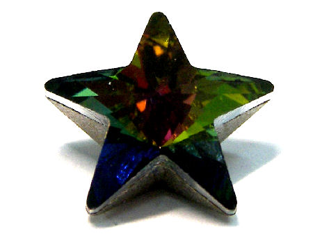4745 Swarovski Elements Star - 10mm - Crystal Vitrail Medium