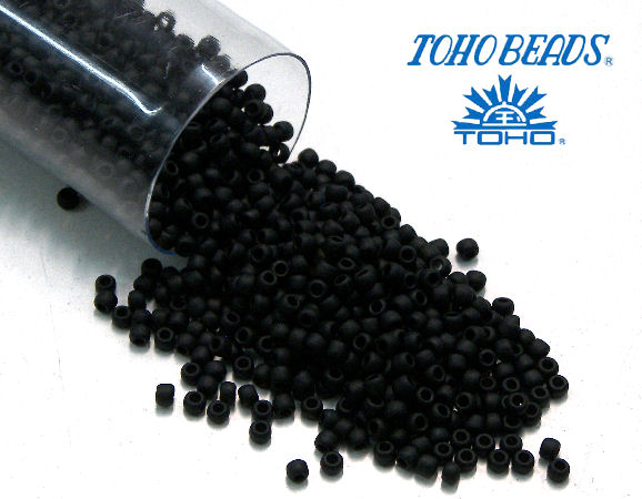 11/0 Toho - rocalla - Opaque Frosted Black - 5gr. col.49F
