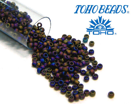 11/0 Toho - rocalla - Mate Color Iris Purple - 5gr. col.615