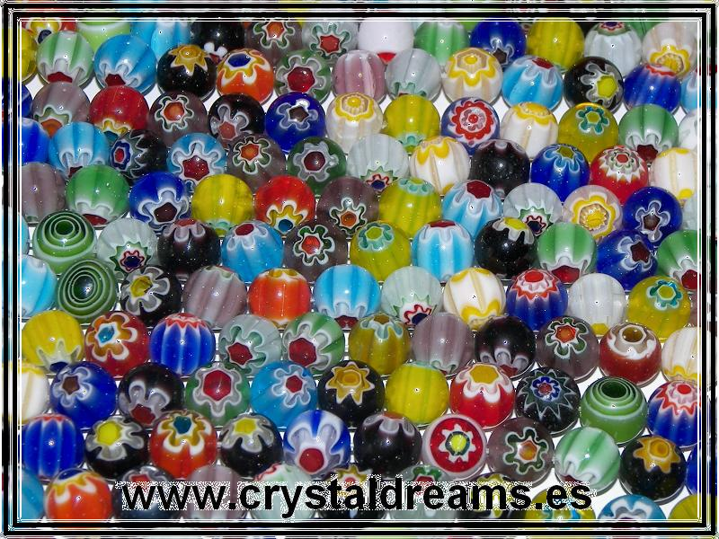 10 x Murano Bolas 6mm Mix