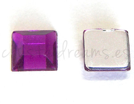 Cabochon acriliche 6x6mm Purple