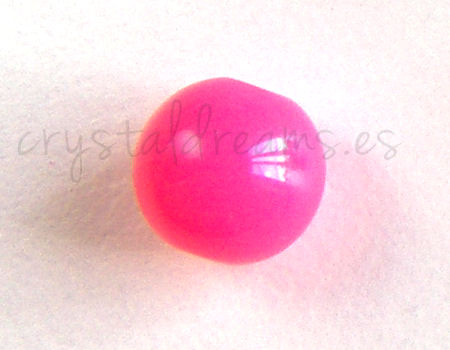 Cuenta NEON color 8mm Agujero: 1,5mm - Pink