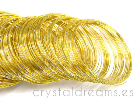 ACERO DE MEMORIA - 55mm - 0,6mm Gold