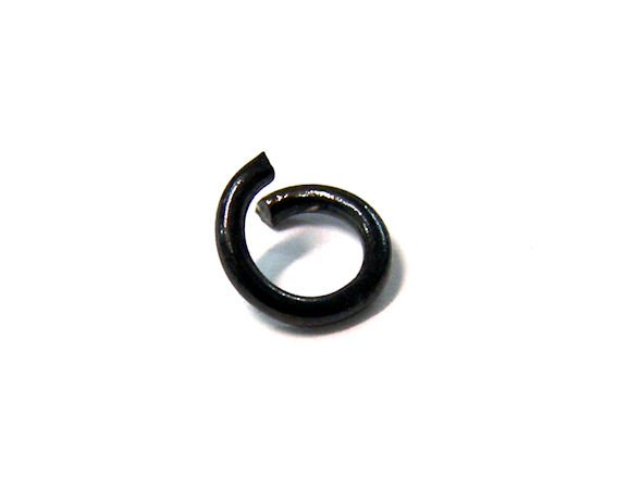 10 x Anillas redondas 6mm x 1mm espesor Acero Inoxidable Black