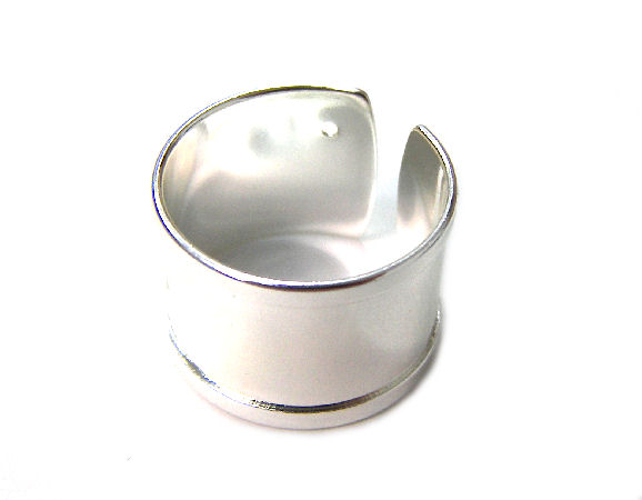 19mm flat adjustable Ring Silver - 10mm