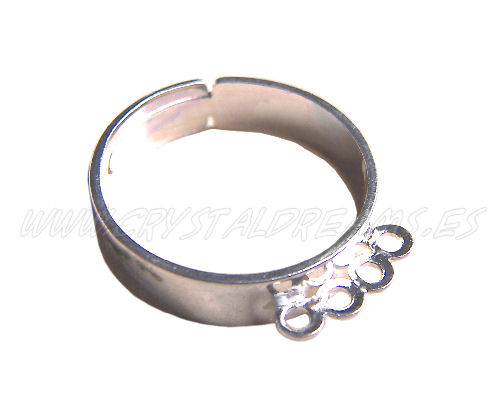 Ring with 4 loops Silver