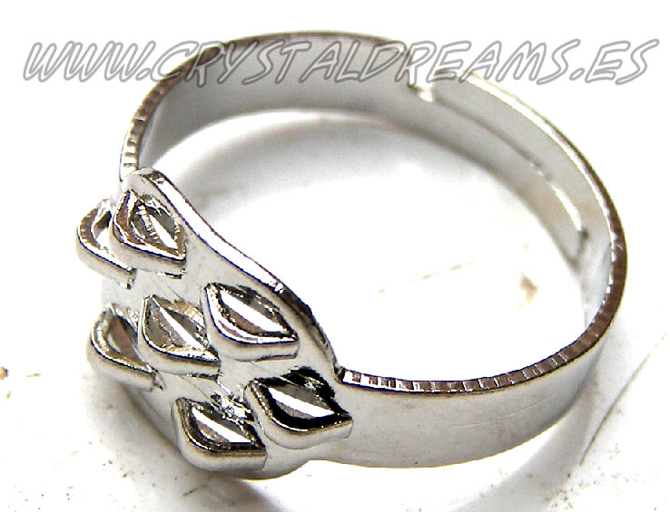 Anillo adjustable 7 anillas Silver Color