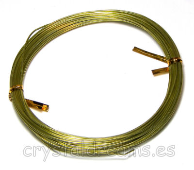 12 METROS - CABLE DE ALUMINIO - 1mm - APPLE GREEN