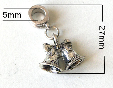 Colgante metal - Bells - 27mm - Agujero: 5mm