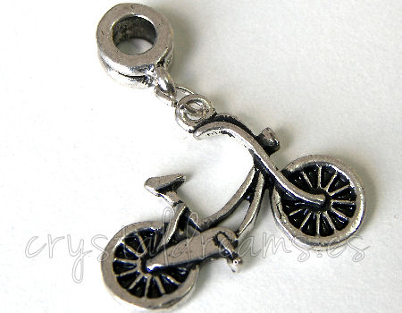 Metal Pendant - Bike - 30x25mm - Agujero: 4mm