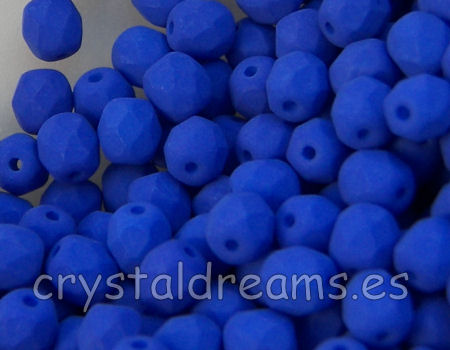 Facetadas 6mm BLUE NEON MATE