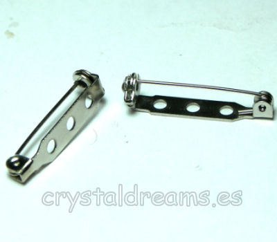 Alfiler broche imperdible 34 x5 x 6mm Platinum color x 1