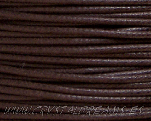 Hilo Algodon encerado 2mm x 1 metros Brown