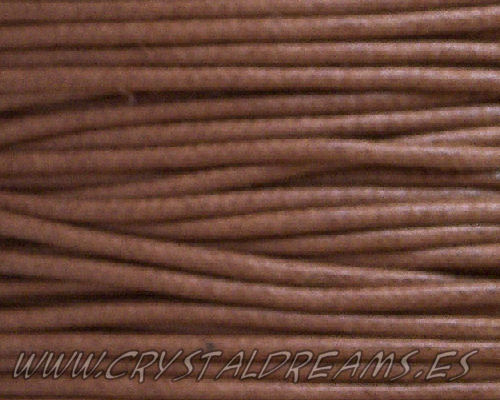 Hilo poliéster encerado 1mm x 1 metros Color Brown