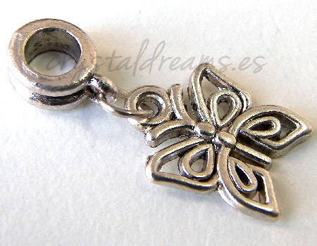 Metal Pendant - Butterfly - 25mm - Agujero: 4,5mm