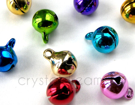 Cascabeles de metal - Mixed color - 8mm - 10 unidades
