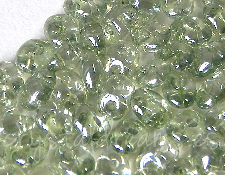 10 gr Superduo® 2,5x5mm Ag:0,8mm CRYSTAL GREEN LUSTER