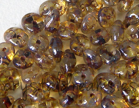 10 gr Superduo® 2,5x5mm Ag:0,8mm CRYSTAL PICASSO